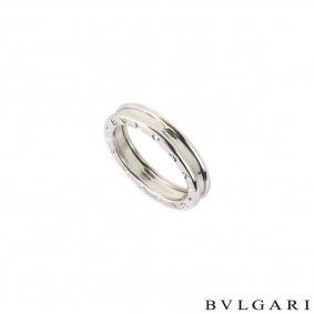 Bvlgari 18k white gold B.zero1 Ring Size 65 AN852423